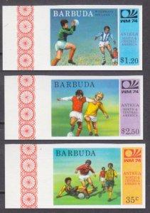1974 Barbuda 175-177b 1974 World championship on football of Munich