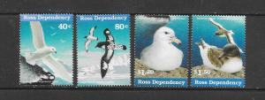 Ross Dependency MNH L48a-d Antarctic Birds WWF