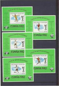 Togo Mi.bl.177-81,MNH VF s/s Football-82