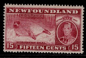 CANADA - Newfoundland GVI SG263, 15c claret, M MINT. Cat £21.