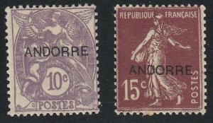 Andorra-French - 1931 - SC 5-6 - H - some missing gum