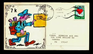 ACE hand crafted/painted cachet/ ACE Local Mail Art Cover - Kelty - Lot 0221367