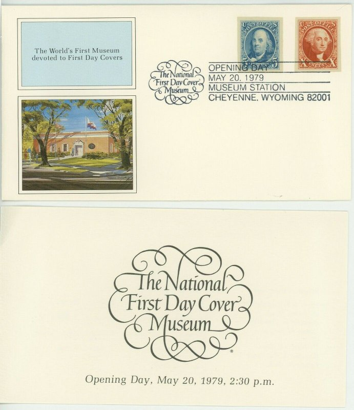 National First Day Cover Museum Opening Day Facsimile Black Penny FDC Souvenir
