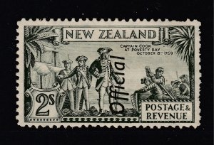 New Zealand a MH 2/- Official from the 1936 series perf 12.5