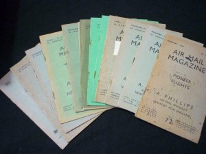 13 ASSORTED ISSUES OF THE AIR MAIL MAGAZINE FROM 1939 TO 1945