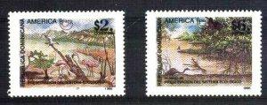 #961 REPUBLICA DOMINICANA 1995 UPAEP AMERICA FAUNA BIRD FLORA YV 1196-7,MNH