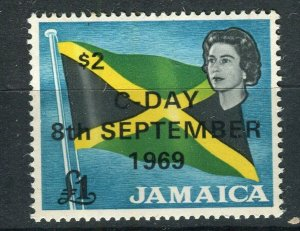 JAMAICA; 1969 early Decimal Currency surcharged issue MINT MNH $2 value