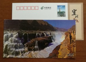 Group waterfall,CN 12 shaanxi yichuan hukou waterfalls series landscape PSC