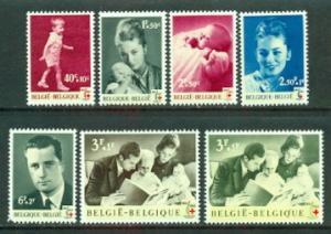 Belgium #B740-B746  Mint  VF  HR  Scott $5.70  Royalty
