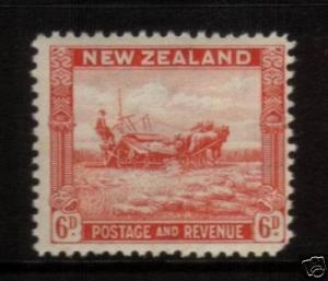 NEW ZEALAND 1936 6d PICTORIAL MLH SG585b P12 1/2