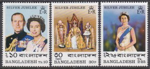 Bangladesh Sc #123-125 MNH Silver Jubilee