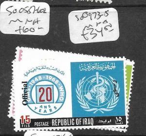 IRAQ (P1902BB) OFFICIAL  SG O973-5       MNH