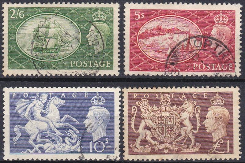 Great Britain 286-289 used (1951)