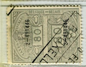 BELGIUM; Early 1900s fine used TAXES FISCALES Revenue issue used value, 80c