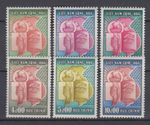South Vietnam 1957 Full  Set Sc#73-78  MNH Luxe (White Gum)