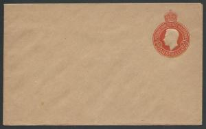 AUSTRALIA GVI 3½d brown envelope fine unused...............................12456
