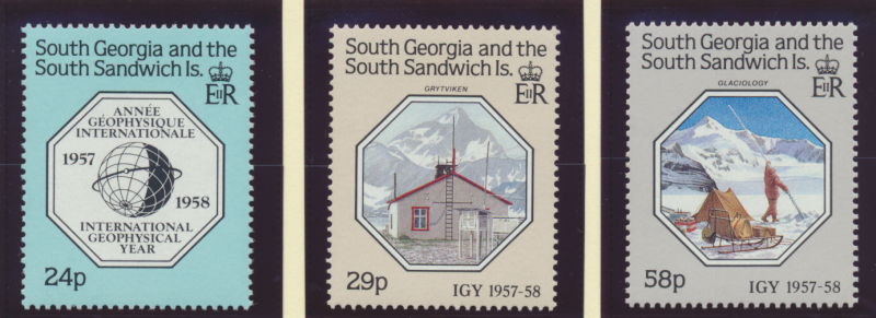 South Georgia (& South Sandwich Islands) Stamps Scott #124-6, Mint Never Hing...
