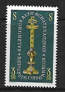 AUSTRIA 792 MNH MIDEVIL GOLD CROSS