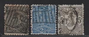 $New Zealand Sc#67A-69 used, fine, complete set, Cv. $404.50