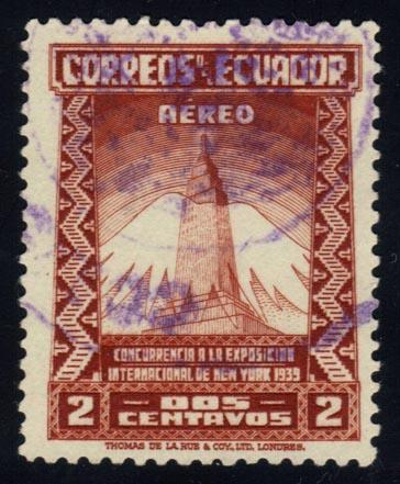 Ecuador #C80 Empire State Bldg and Mountain, used (0.30)