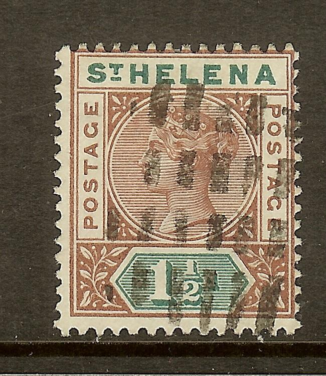 St Helena, Scott #42, 1 1/2p Queen Victoria, Used