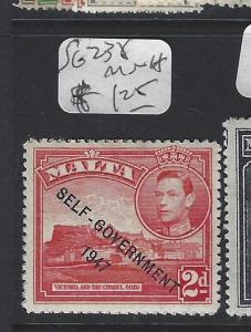 MALTA (PP0710B) KGVI 2D SELF GOVT  SG 238  MNH