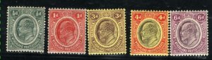 Nyasaland Protectorate #2-6    Mint VF 1908 PD