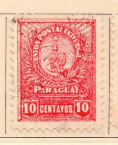 Paraguay 1901-02 Early Issue Fine Used 10c. 154884
