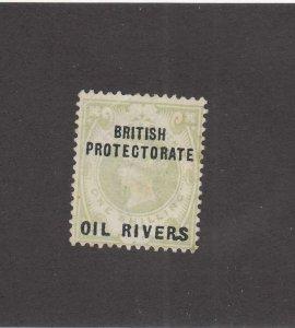 NIGER COAST BRITISH PROTECTORATE OIL RIVERS # 6 MINT UNUSED CAT VALUE $77.50