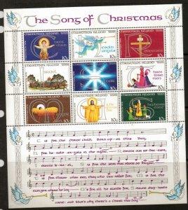 CHRISTMAS ISLAND SG99a 1978 CHRISTMAS SHEETLET MNH