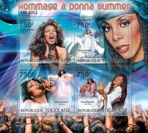 TOGO 2012 SHEET DONNA SUMMER SINGERS MUSIC tg12202a