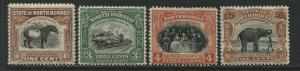 North Borneo 1909-22 various values to 5 cents mint o.g.