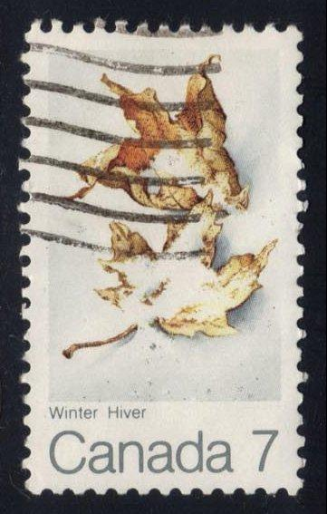 Canada #538 Snow-covered Maple Leaves, used (0.25)