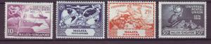 J21361 Jlstamps 1949 singapore set mh #23-6 upu
