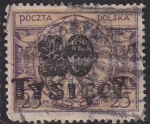 Poland 195 Polish Eagle Arms 10,000Mk O/P 1923