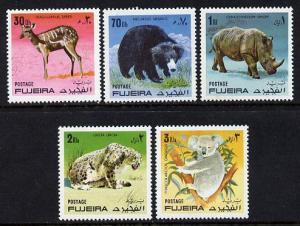 Fujeira 1971 Wild Animals set of 5 unmounted mint (Mi 792-6)