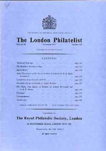 Literature - London Philatelist Vol 84 Number 0995 dated ...