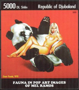 Djubaland 1999 Pop Art (2) MNH Cinderella !