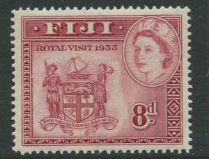 Fiji - Scott 146 - QEII - Royal Visit- 1953 - MVLH- Single 8p Stamp