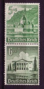 *Third Reich se-tenant S258 Buildings MNH