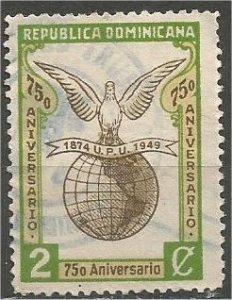 DOMINICANA,  1950, used 2c , UPU, Scott 434