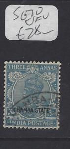 INDIA CHAMBA  (PP2410B)  KGV  3A   SG 70   VFU