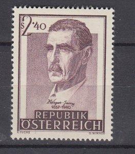 J29495, 1957 austria set of 1 mh #615