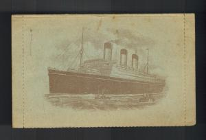 1933 England RMS Majestic Illustrated Paqueboat Liner ship Cover to US