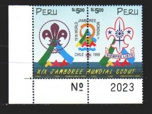 Peru. 1999. 1660-61. Scouts. MNH.