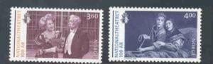 Norway Sc 1238-9 1999 National Theatre stamp set mint NH