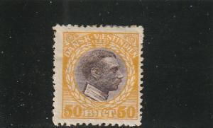 Danish West Indies  Scott#  58  MH  (1915 Christian X)
