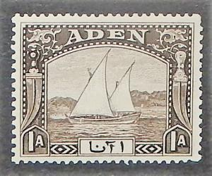 Aden 3. 1937 1a Black brown Dhow