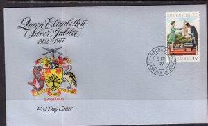 Barbados 452 Queen Elizabeth II Silver Jubilee U/A FDC