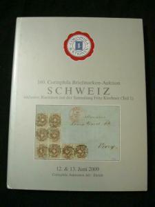 CORINPHILA AUCTION CATALOGUE 2009 SCHWEIZ 'KIRCHNER 1'